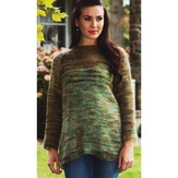 Plymouth Yarn 2589 Woman's Raglan Garter Panel Pullover