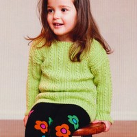 2739 Child's Cabled Pullover