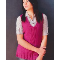 2764 Split Twisted Ribbing Long Vest