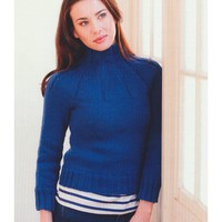 2768 Woman's Ribbed Yoke Pullover
