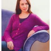 Plymouth Yarn 2771 Woman's Zig Zag Cardigan