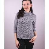 Plymouth Yarn 3009 Women's Lace Pullover