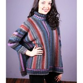 Plymouth Yarn 3024 Women's Poncho With Sleeves