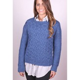 Plymouth Yarn 3046 Women's Lattice Stitch Pullover