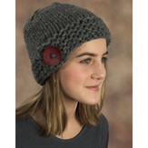 Plymouth Yarn F379 Button Hat (Free)