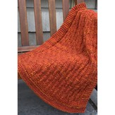 Plymouth Yarn F663 Vertical Lines Throw (Free)