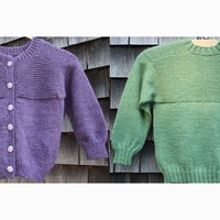Garter Down Pullover and Cardigan for Children