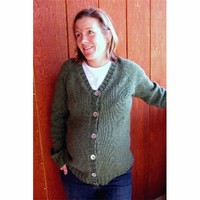 274 Top Down V-neck Maternity Sweater