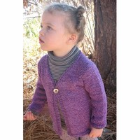 296 Girl's One Button Cardigan