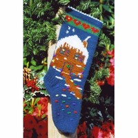 XMAS803 Knit Gingerbread House Stocking