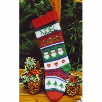 XMAS805 Multi Motif Stocking