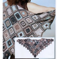 Modular Shawl with Ruffled Edges