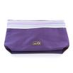 della Q 1112-1 Lily Small Stripe Zip Pouch - Purple