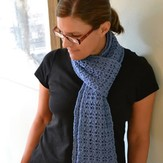 Spud & Chloë by Blue Sky Fibers Reversible Rib and Lace Scarf (Free)