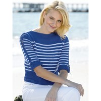 Nautical Stripes Boatneck Pullover (Free)