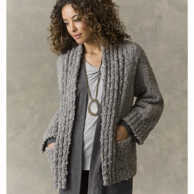 Knitting Patterns For Bulky Weight Yarn : Sweater Patterns Using Bulky Yarn - Gray Cardigan Sweater