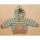 Tahki Yarns Striped Hoodie & Hat PDF