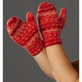 Wisdom Yarns Child's Sparkling Winter Mittens (Free)