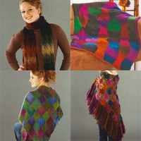 Classic Shades Shawl, Afghan, & Scarf Projects