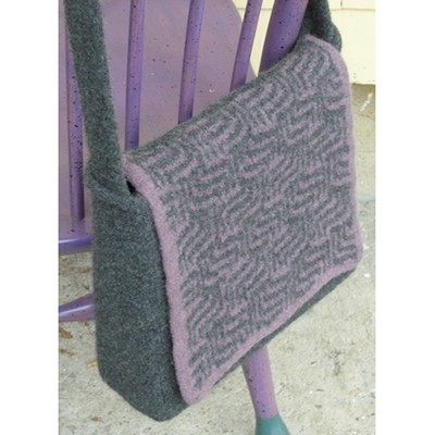 Yarn Bag Pattern : Valley Yarns 141 Purple Maze Messenger Bag (Free)