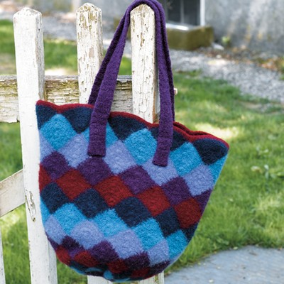 Yarn Bag Pattern : Valley Yarns 172 Felted Entrelac Bag (Free) at WEBS Yarn.com