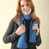 Valley Yarns 240 Reversible Wave Cabled Scarf (Free)