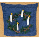 Valley Yarns 579 Advent Candle Wall Hanging (Free)