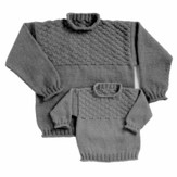 Yankee Knitter Designs 28 Basketweave Pullover for Children & Adults